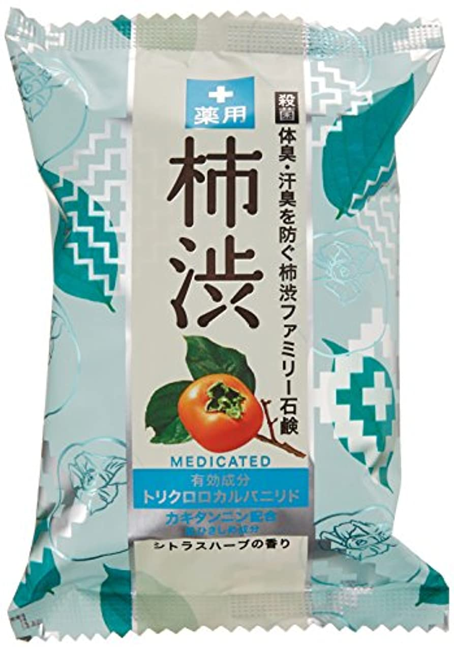 マウスピース老人勤勉なペリカン石鹸 薬用ファミリー 柿渋石けん 80g×2個