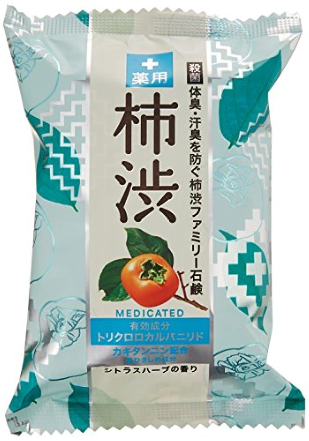 勇気葉を拾う面白いペリカン石鹸 薬用ファミリー 柿渋石けん 80g×2個