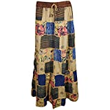 Womens Patchwork Skirts Vintage Forever Fun Funky Ethnic Printed Long Skirts