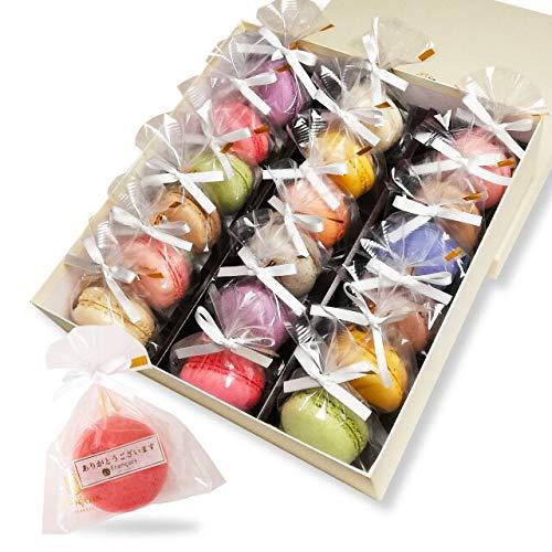 リボン付 マカロン 18個入 手提げ紙袋付き 個包装 天使がくれたマカロン バレンタイン お菓子 プチギフト ギフト