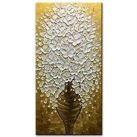 desihum-abstractオイル絵画キャンバスのリビングルームベッドルームダイニングルーム 24 * 48 inch(60 * 120cm) ゴールド DS023-60120
