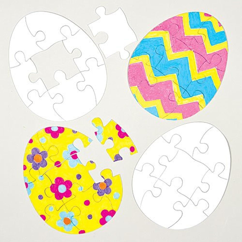 ハート ぬりえジグソーパズル(8個セット)母の日やバレンタインの子どもたちの手作りに
