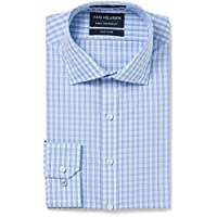 Van Heusen Men's Euro-Tailored Fit Check Business Shirt