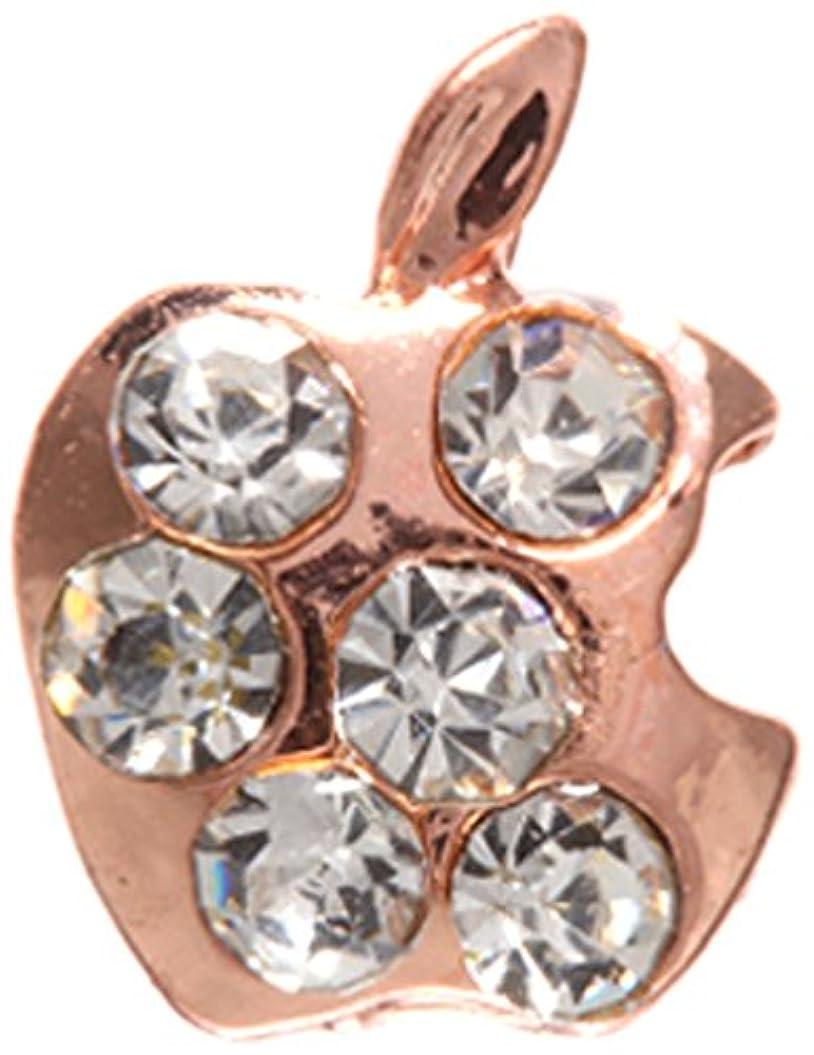 自分の力ですべてをするのぞき見退化するアップル クリスタル(各2個) ピンクゴールド