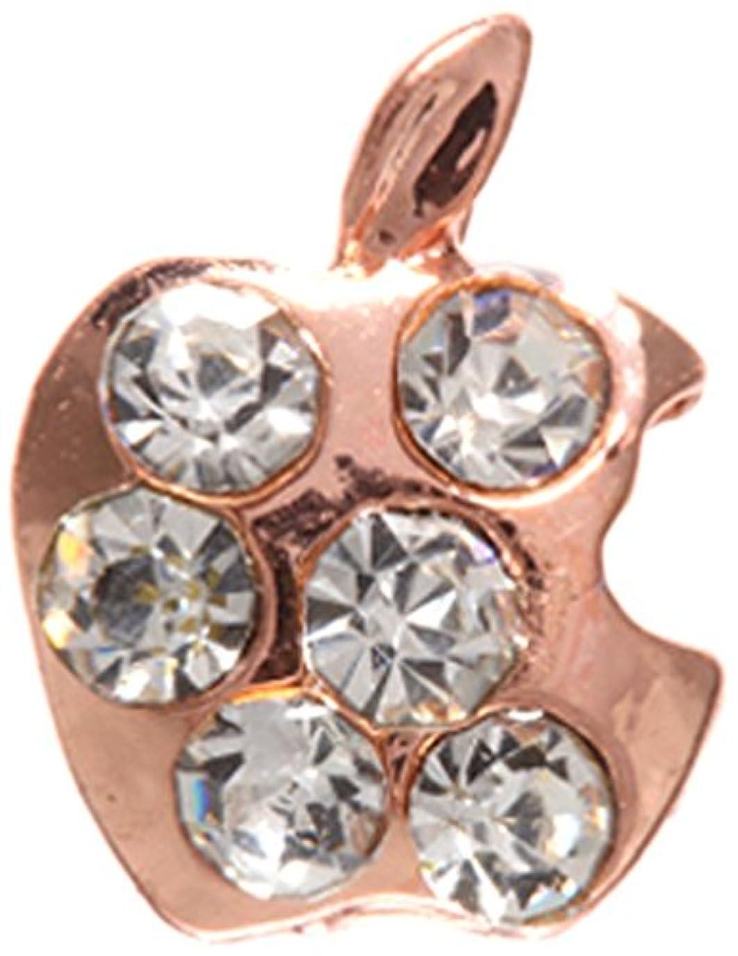 ピストン名前でクリークアップル クリスタル(各2個) ピンクゴールド