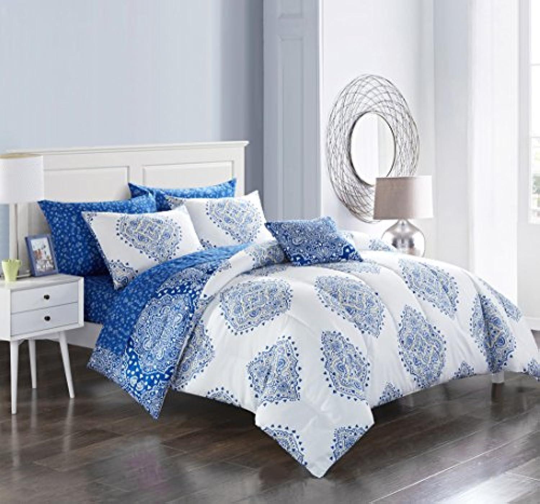 Pop Shop 寝具一式 フルサイズ ブルー