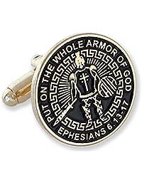 Armor of God Enamel Lapel Pin + Tie Bar + Cufflinks