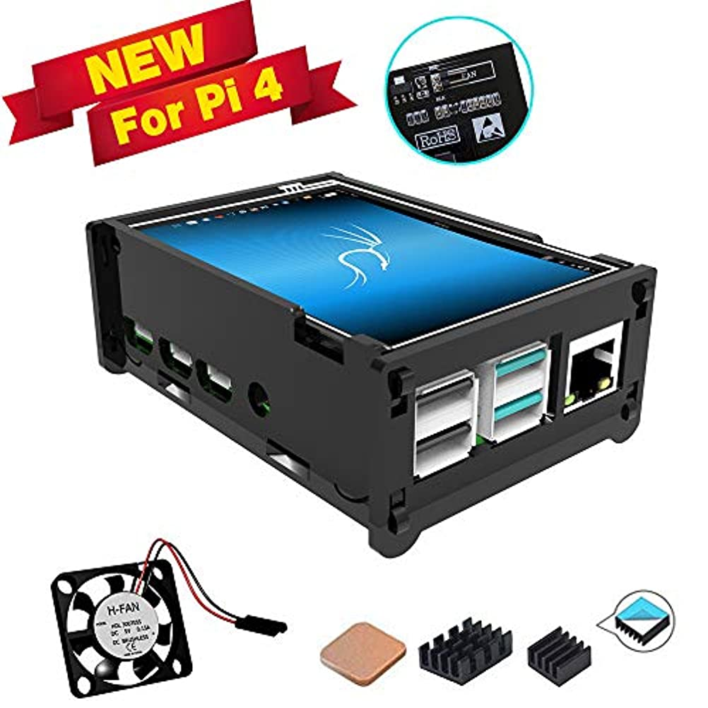 からジョリーレジデンスグレーアクリルケース付きRespbery Poタッチスクリーンの場合, ミニファン, 320x480ピクセルモニターゲームディスプレイを備えた3.5インチタッチスクリーン