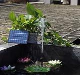 電気代0円 ソーラーパネルで省エネ仕様 お庭の噴水や池でも使えるソーラー池ポンプ TASTE-SP001