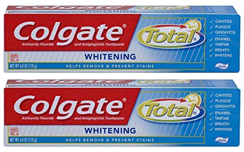 枯渇する面グラディスColgate トータル歯磨き粉ホワイトニング - 6オズ、2パック