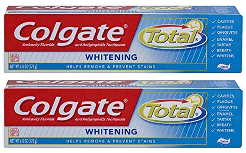 疎外するピーククライマックスColgate トータル歯磨き粉ホワイトニング - 6オズ、2パック