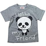 《初夏盛夏対応》 GARACH(ギャラッチ) 天竺my Friend PANDA半袖Tシャツ 100cm/Mg NO.AH-1621310