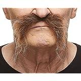 [マスタック]Mustaches Realistic Fu Manchu brown with gray moustache [並行輸入品]