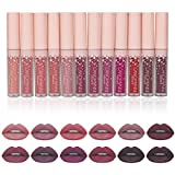 12pcs/lot lip kit matte Lipstick Waterproof Nutritious Velvet lip stick Red Tint Nude batom makeup set12pcs/lot...