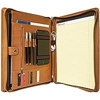 (コフェイス)Coface iPad Pro 12.9用 高級ビジネスパッドフォリオ 持ち手付き 多機能書類フォルダー ビジネスオーガナイザー ポートフォリオ A4 大容量 牛革本革 ブラウン