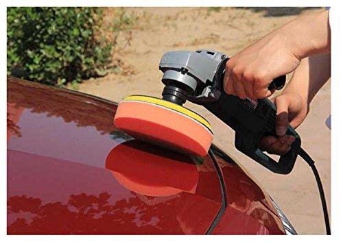 洗車 研磨 コンパウンド スポンジバフ 電動 ポリッシャー 100 125 150 mm (125mm 5個)