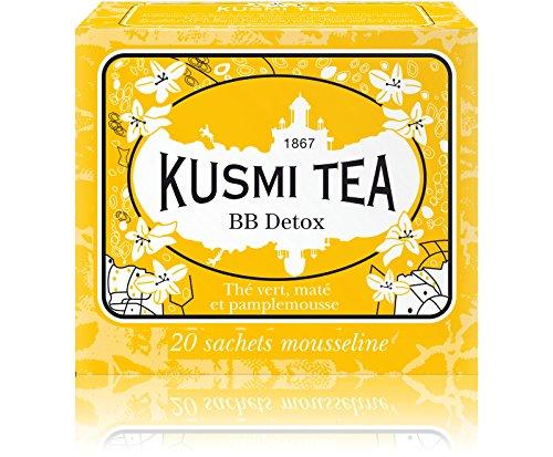 (KUSMI TEA) クスミティー BB デトックス モスリン ティーバッグ 2.2g×20袋入り [正規輸入品]