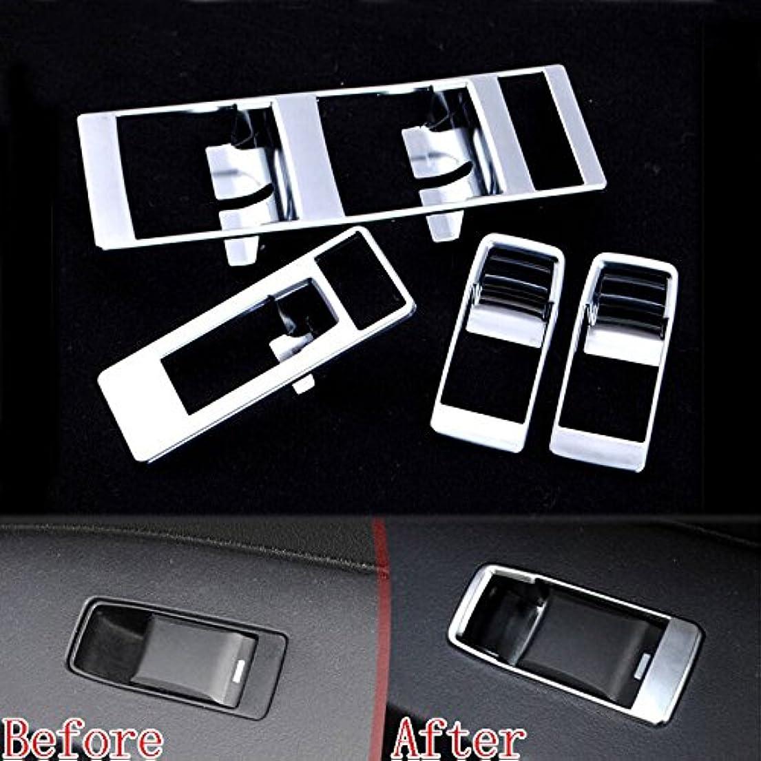 マサッチョ序文期間Jicorzo - 4x Chrome Car Door Window Switch Button Panel Cover Trim Styling Sticker Fit For Jeep Patriot Compass...