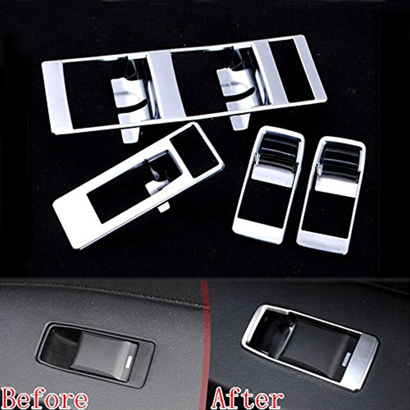 グレー所持スパイJicorzo - 4x Chrome Car Door Window Switch Button Panel Cover Trim Styling Sticker Fit For Jeep Patriot Compass 09-2015