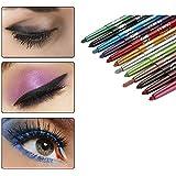 12色のアイシャドーアイライナー リップライナーペンシル 化粧ペン メイクアップセット 防水 長持ち 人気