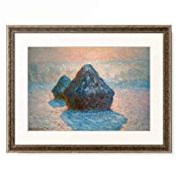 クロード・モネ Claude Monet 「Hay stack, effect in frost. 1891」 額装アート作品