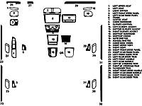 rdashダッシュ・キット・デカル・トリムforフォルクスワーゲンゴルフ/ GTI 2010–2014 C-020--DK-VWN-GOL-10