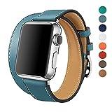 apple watch バンド 本革 ビジネススタイル アップルの時計バンドの38 mmの42 ...