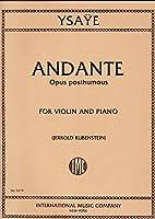 YSAYE - Andante Op. Postumo (1885) para Violin y Piano (Rubenstein)