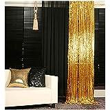 3 ftx6ft-スパンコール背景写真ブースカーテン、ブルースパンコール生地ウェディング/誕生日クリスマスデコレーション  3FTx6FT ゴールド 3FTX6FT Peach Sequin Backdrop Curtain