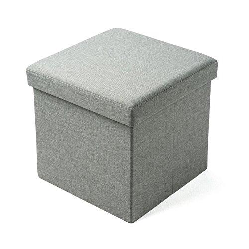 サンワダイレクト 収納スツール 折りたたみ 【耐荷重100kg】 座面取り外し 足置き 椅子 収納 グレー 150-SNCBOX6GY