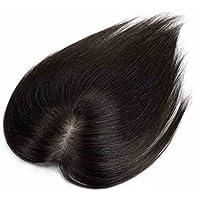 FESHFEN 部分ウィッグ 女性 かつら ポイントウィッグ 増毛 白髪隠れ ヘアピース 人毛100% 総手植え 薄毛 ボリュームアップ レディース 自然黒 10cm*12cm