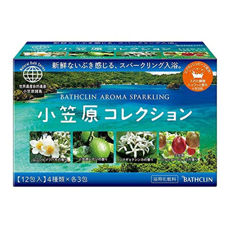 【個包装詰め合わせ】バスクリン入浴剤 アロマスパークリング小笠原コレクション4つの香り×3包 発泡タイプ