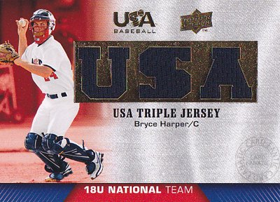 MLBカード【ブライス ハーパー】2009-10 USA Baseball 18U National Team Jersey (Bryce Harper)