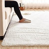 MAXYOYO カーペット 絨毯 マット ラグマット カシミヤ ボア 滑り止め 心地よい 超柔らかい 折り畳み可能 無地 長方形 リビング ベッドルーム 床 フロアマット チェアマット エコ素材 抗菌防臭 洗える