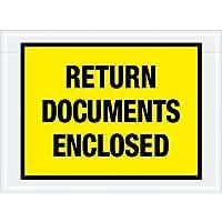 Aviditi PL448 Tape Logic Return Documents Enclosed Envelopes 7 1/2 x 5 1/2 Yellow (Pack of 1000) [並行輸入品]