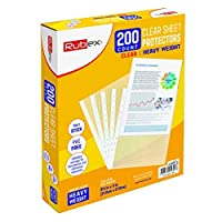 200 Heavyweight Sheet Protectors, Holds 8.5 x 11 inch Sheets, 9.25 x 11.25 inch Top Loading, Clear, Reinforced 11-Hole, Acid-Free, Archival Safe for Documents and Photos, Box of 200 [並行輸入品]