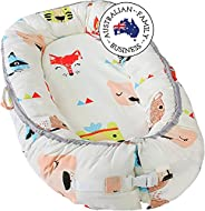 Little Archer & Co.™ Newborn Baby Nest - Easy to Move, Ideal for Co-Sleeping, Breathable and Soft, 100% Co
