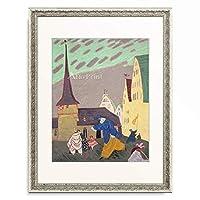 リオネル・ファイニンガー Lyonel Feininger 「Karneval in Gelmeroda II. 1908.」 額装アート作品