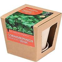 グロウ&イート オーガニック 栽培キット (欧州オーガニック認定の種子使用) (コリアンダー)