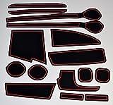 KINMEI(キンメイ) スズキ スペーシア Spacia 赤 MK32S/42S型 車種専用設計 インテリア ドアポケットマット ドリンクホルダー 滑り止め ノンスリップ 収納スペース保護 ゴムマット 新車 SUZUKIci-r