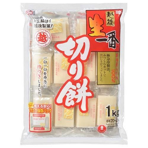 <越後製菓> 生一番切りもち【1kg】 ×10袋