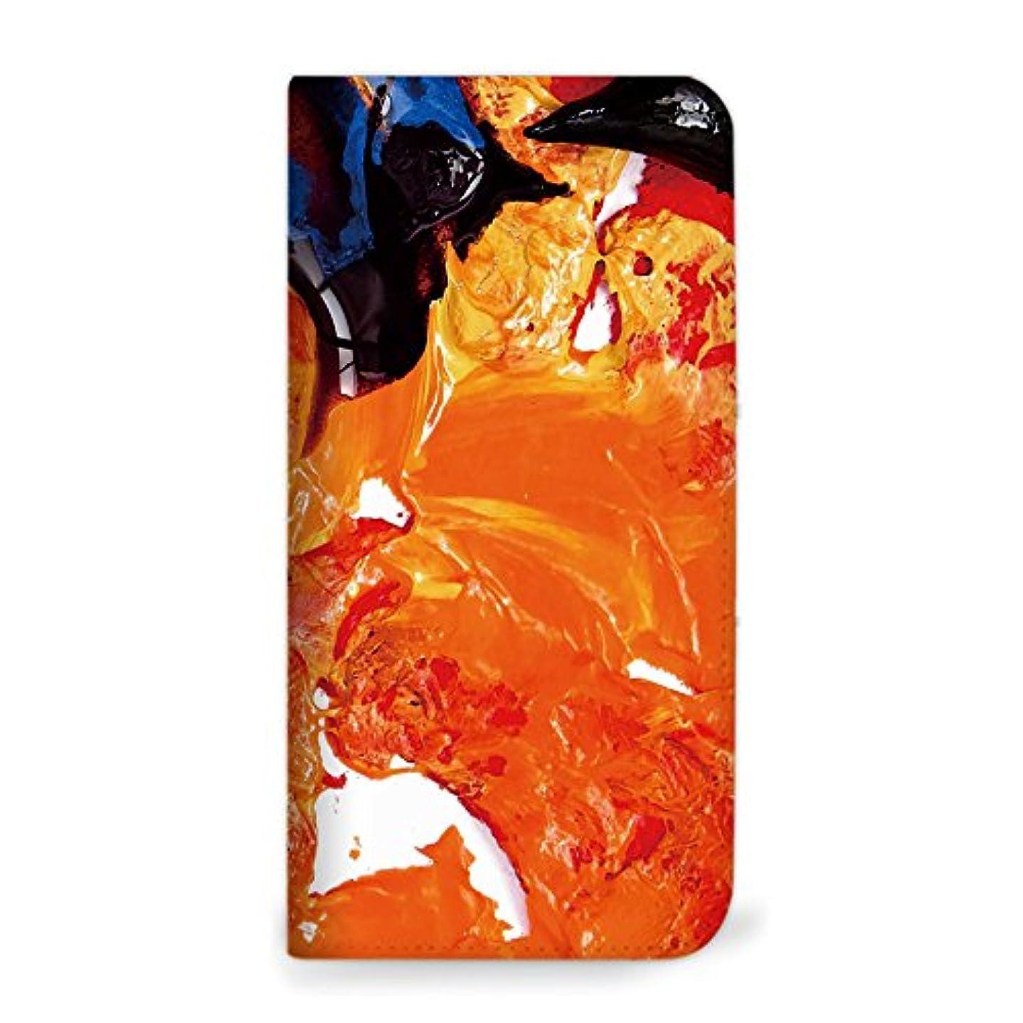 終了する夫燃やすmitas Galaxy S8 Plus SM-G955 ケース 手帳型 ベルトなし ペイント柄 ペイントA (342) NB-0098-PA/SM-G955