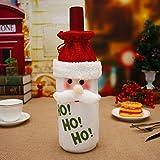 TeFuAnAn ボトルカバー 可愛い クリスマス飾り クリスマスギフト ワインバック 家庭用 3タイプ可選