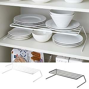 ディッシュラック ディッシュスタンド 皿立て お皿 ホルダー 収納 食器ラック ディッシュストレージ タワー ワイド TOWER特集(ホワイト)
