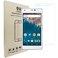 Hasenou Digno G 601KC / Android One S2 ガラスフィルム 保護フィルム 強化ガラス 液晶保護フィルム 硬度9H 気泡防止 0.21mm超薄 旭硝子(For Digno G 601KC / Android One S2;1枚入り)
