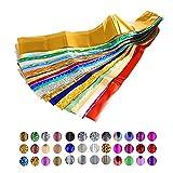 50Pcs Colorful Nail Art Transfer Foil Star Nail Sticker Decal Nail Art ...