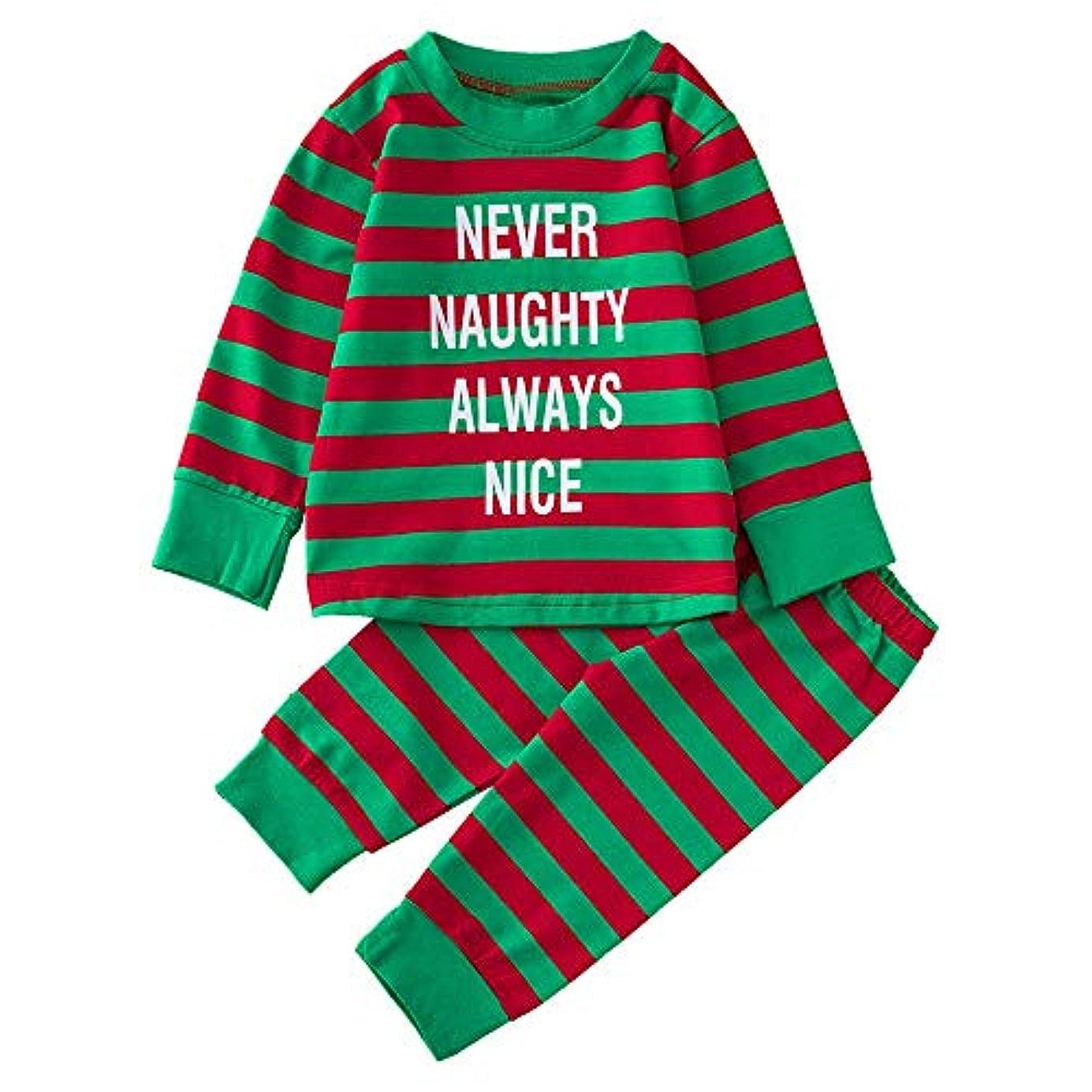 移民食物伝記BHKK 赤ちゃん幼児少年少女レタープリントトップスTシャツ+パンツクリスマスコスチューム 6 ヶ月-24 ヶ月 18ヶ月