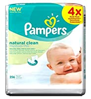 Pampers Natural Clean Baby Wipes 4x64Packs 256 Wipes - 自然のきれいな赤ちゃんは256ワイプ4X64Packsワイプパンパース (Pampers) [並行輸入品]