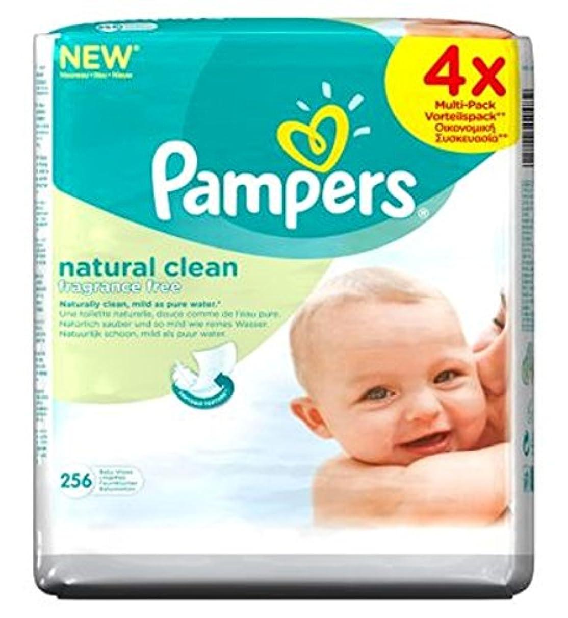 自然のきれいな赤ちゃんは256ワイプ4X64Packsワイプパンパース (Pampers) (x2) - Pampers Natural Clean Baby Wipes 4x64Packs 256 Wipes (Pack...