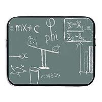 パソコン ラップトップスリーブ 数学物理方程式 防水 ネオプレン PC プロテクターバッグ インナーケース カバー ASUS Lenovo MacBook Mac Air Pro タブレット 用 15 Inch
